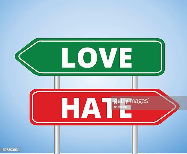 love vs hate - furious stock illustrations
