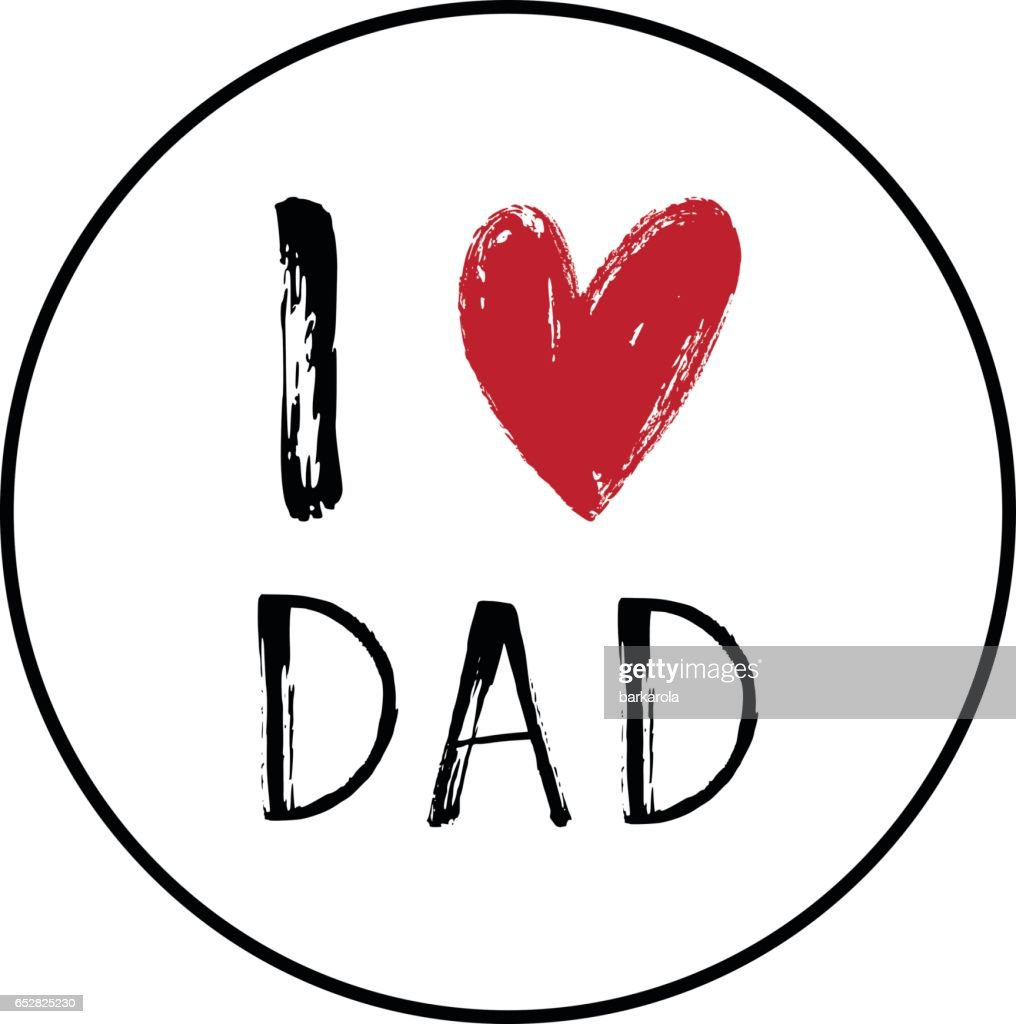 I love you Dad card with a heart.