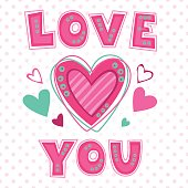 Love you lettering template