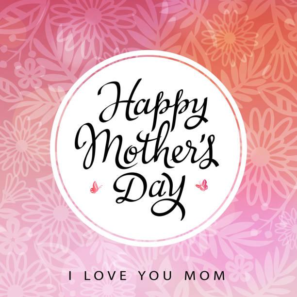 i love you mom - femininity stock illustrations