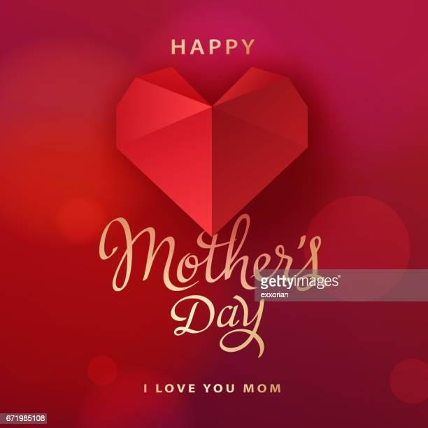 stockillustraties, clipart, cartoons en iconen met ik hou van jou mam - moederdag