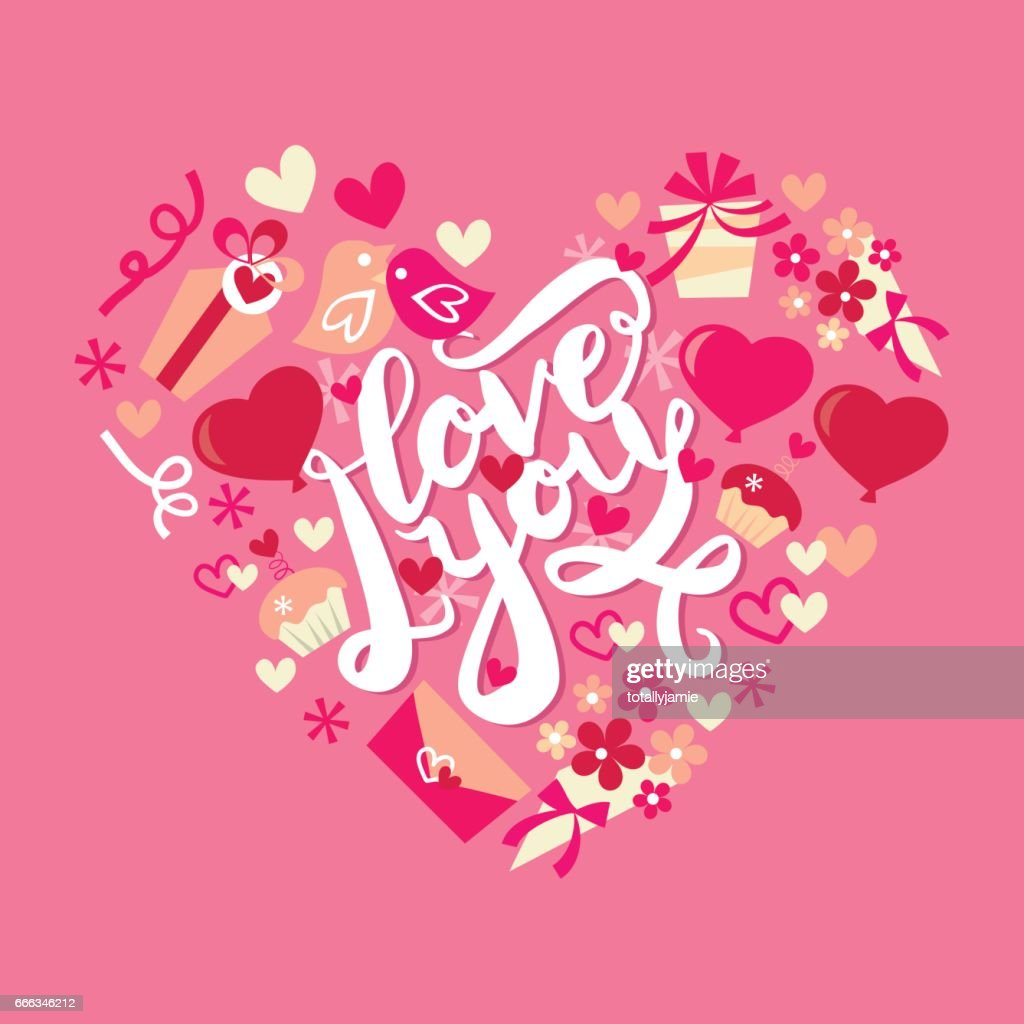 I Love You Retro Valentine's Day Heart Frame