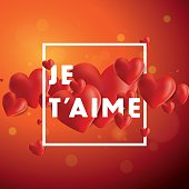 Je T'aime Vector Background