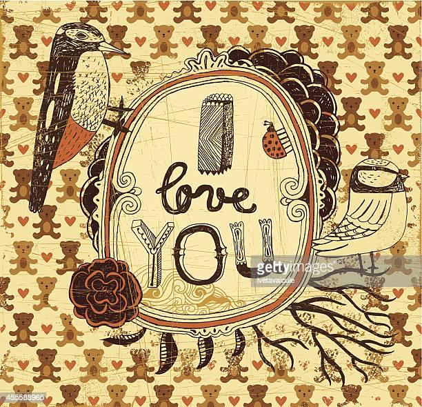 illustrations, cliparts, dessins animés et icônes de i love you - i love you