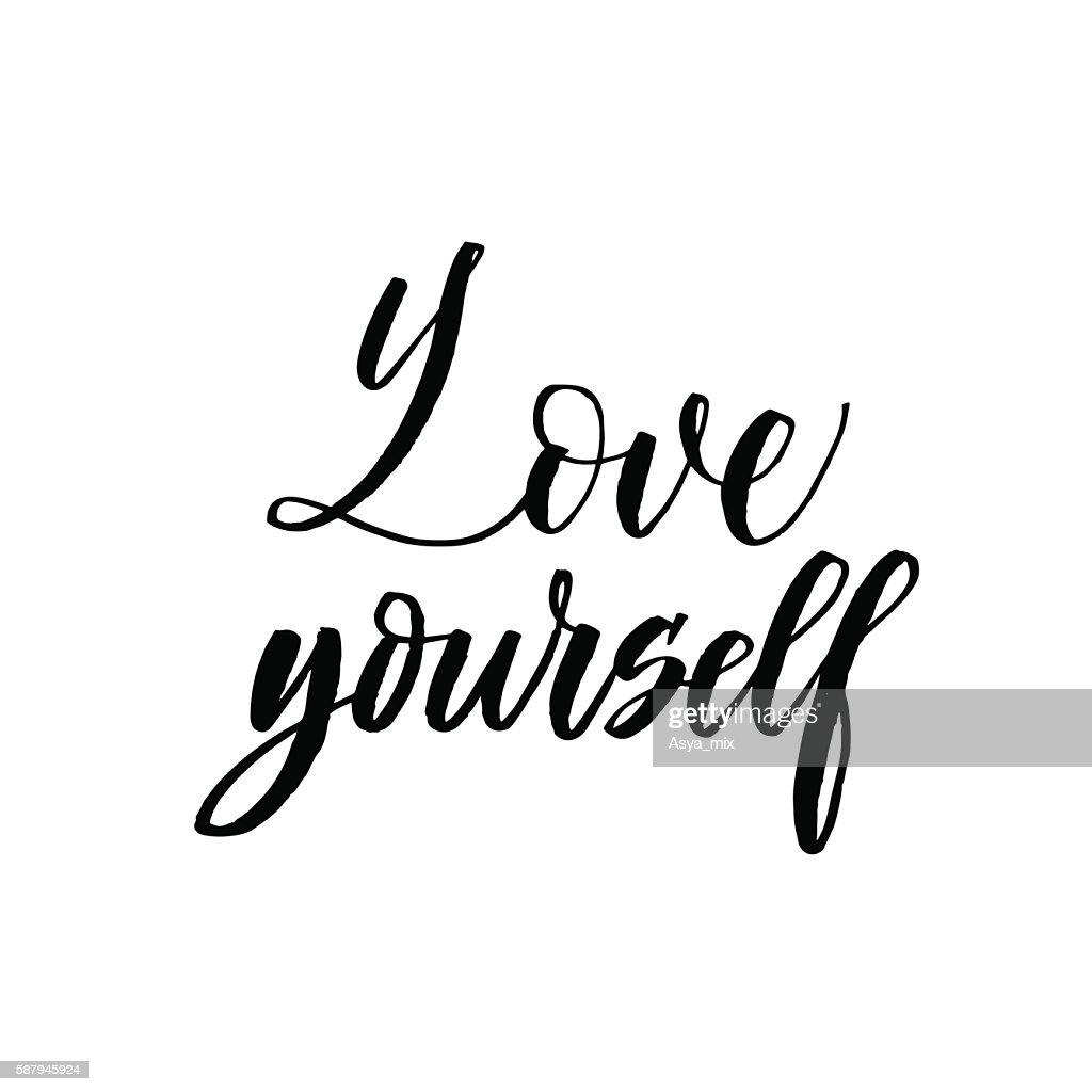 Love yourself card.