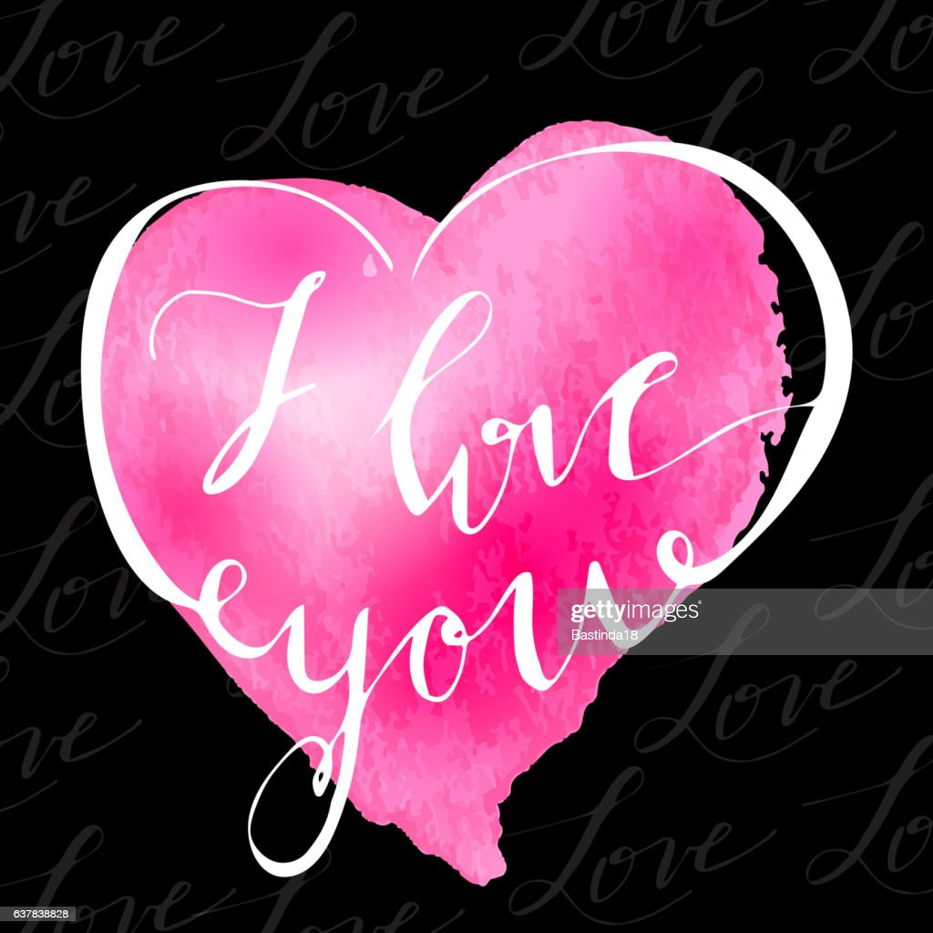 I love youValentines day greeting card w