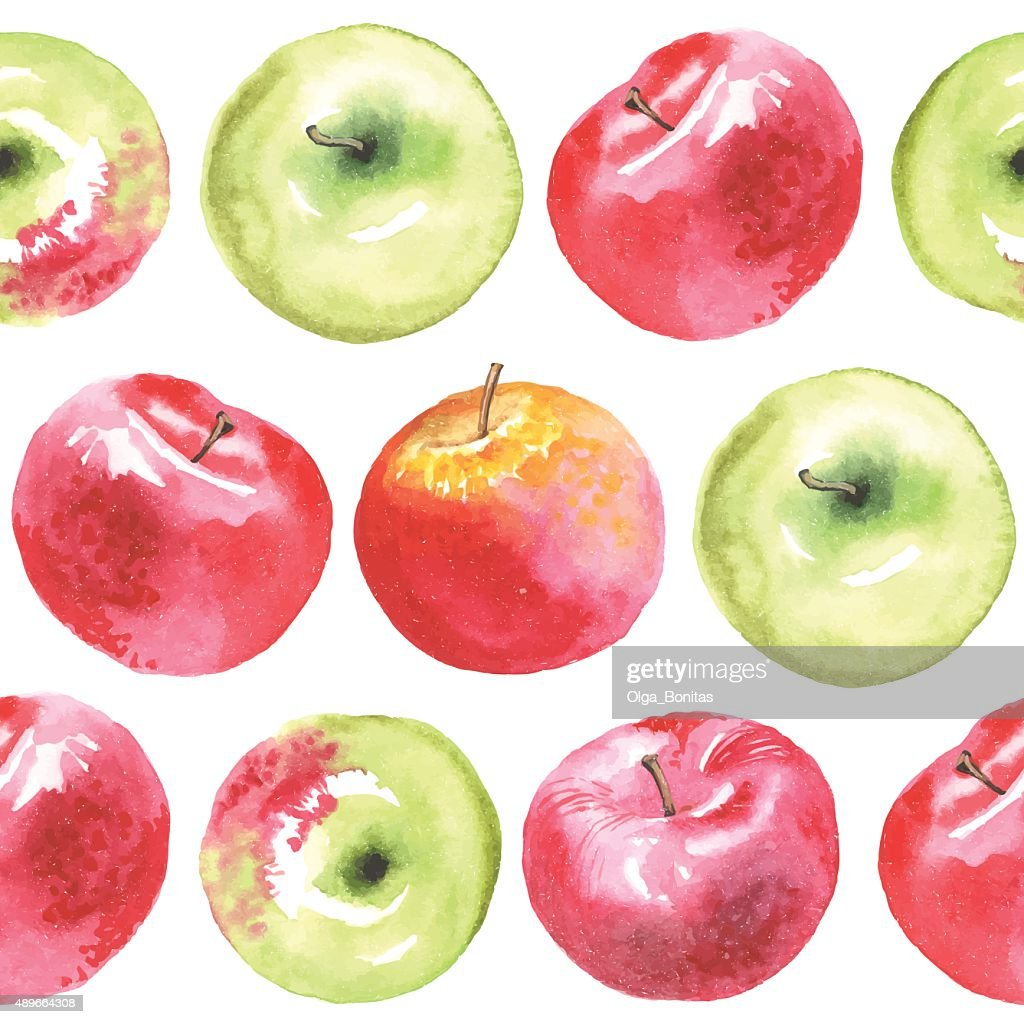 lovely autunm apple pattern
