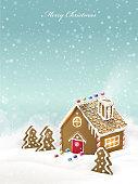 lovely Christmas gingerbread house
