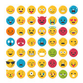 Lovely emoticons design