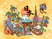 Lovely Japan travel concept