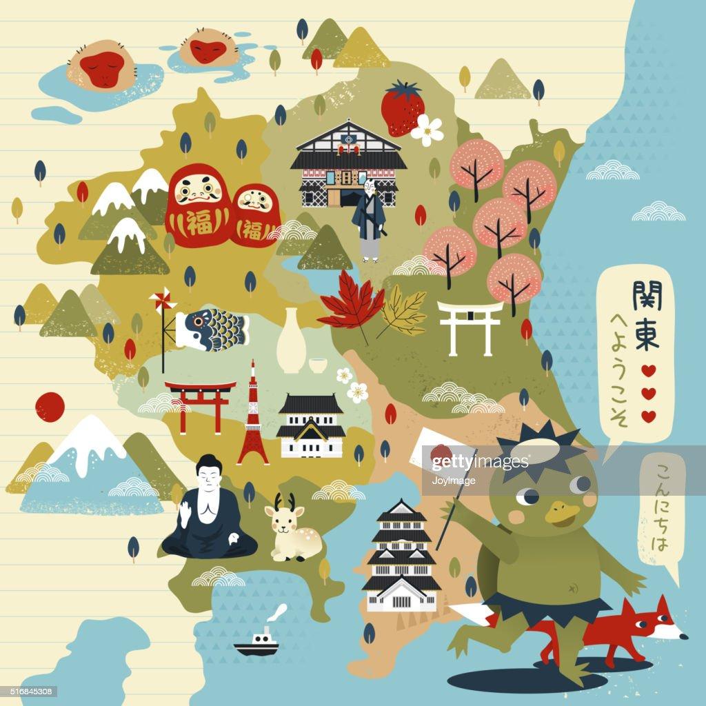 lovely Japan travel map