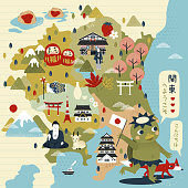 lovely Japan travel map