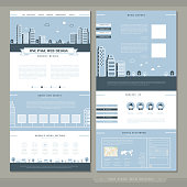 lovely one page website template design