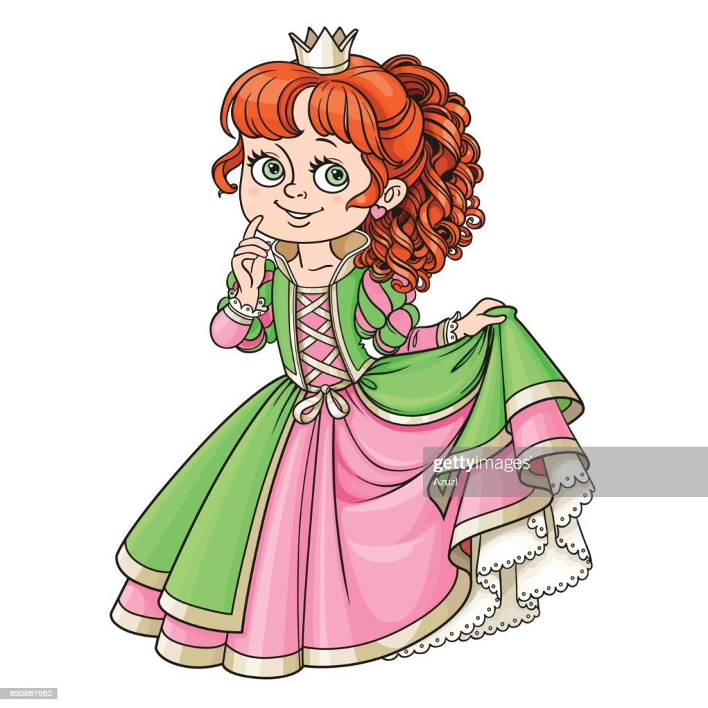 Lovely princess color isolated on a white background