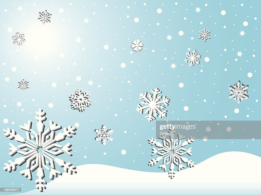 Schöne Schneefall Stock Illustration Getty Images