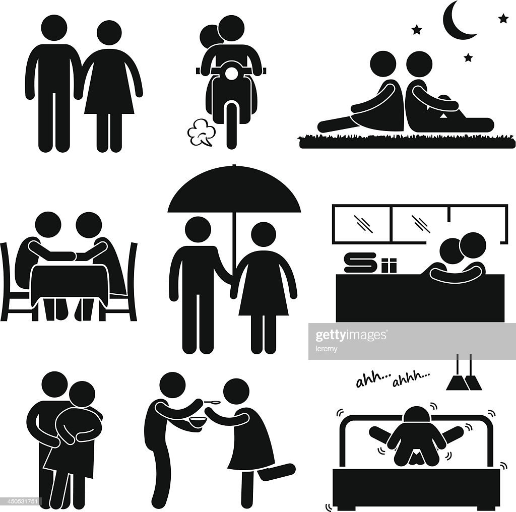 Lover Couple Boyfriend Girlfriend Stick Figure Pictogram