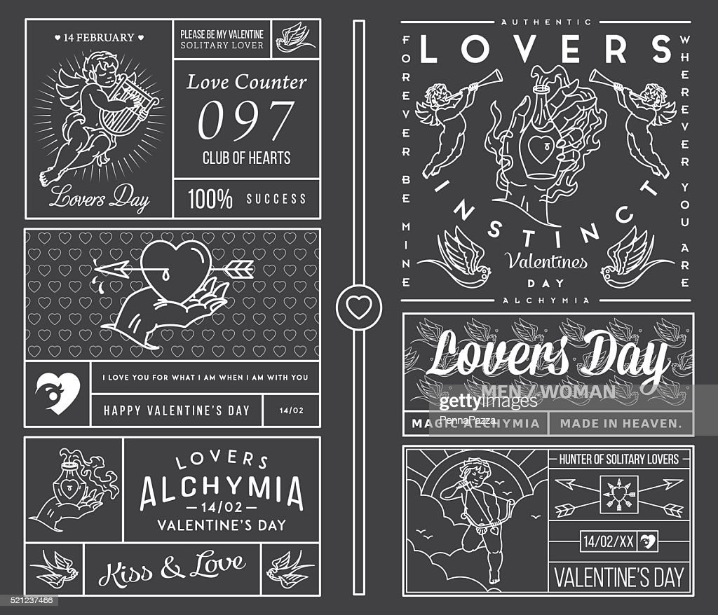 Lovers Greeting Cards white on black