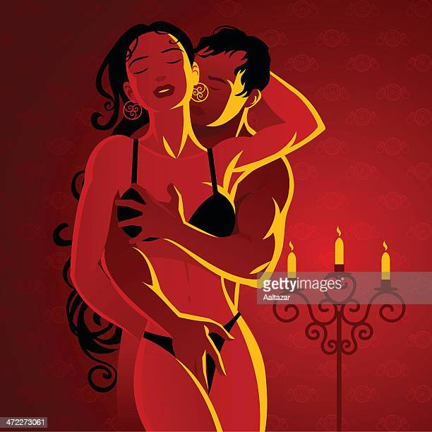 lovers touching - sex and reproduction stock illustrations, clip art, cartoons, & icons