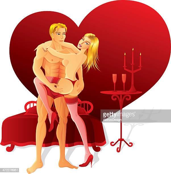lovers - flirting stock illustrations, clip art, cartoons, & icons