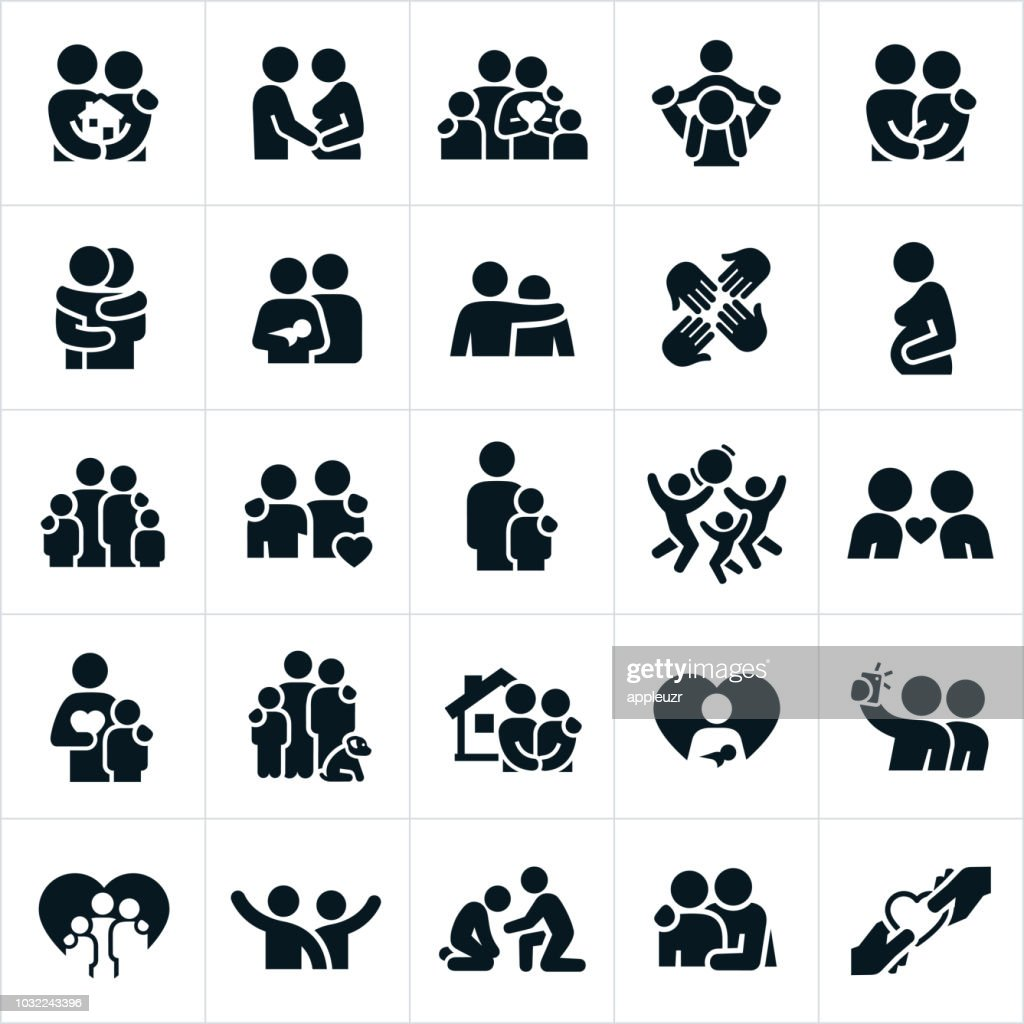 Loving Family Relationships Icons