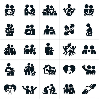 Loving Family Relationships Icons - gettyimageskorea