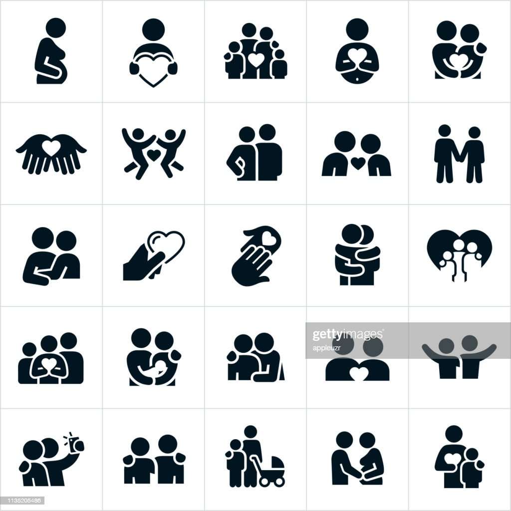 Loving Relationships Icons : Stock Illustration