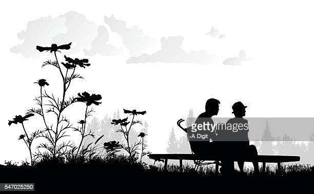 low angle family and flower - wildflower stock illustrations, clip art, cartoons, & icons