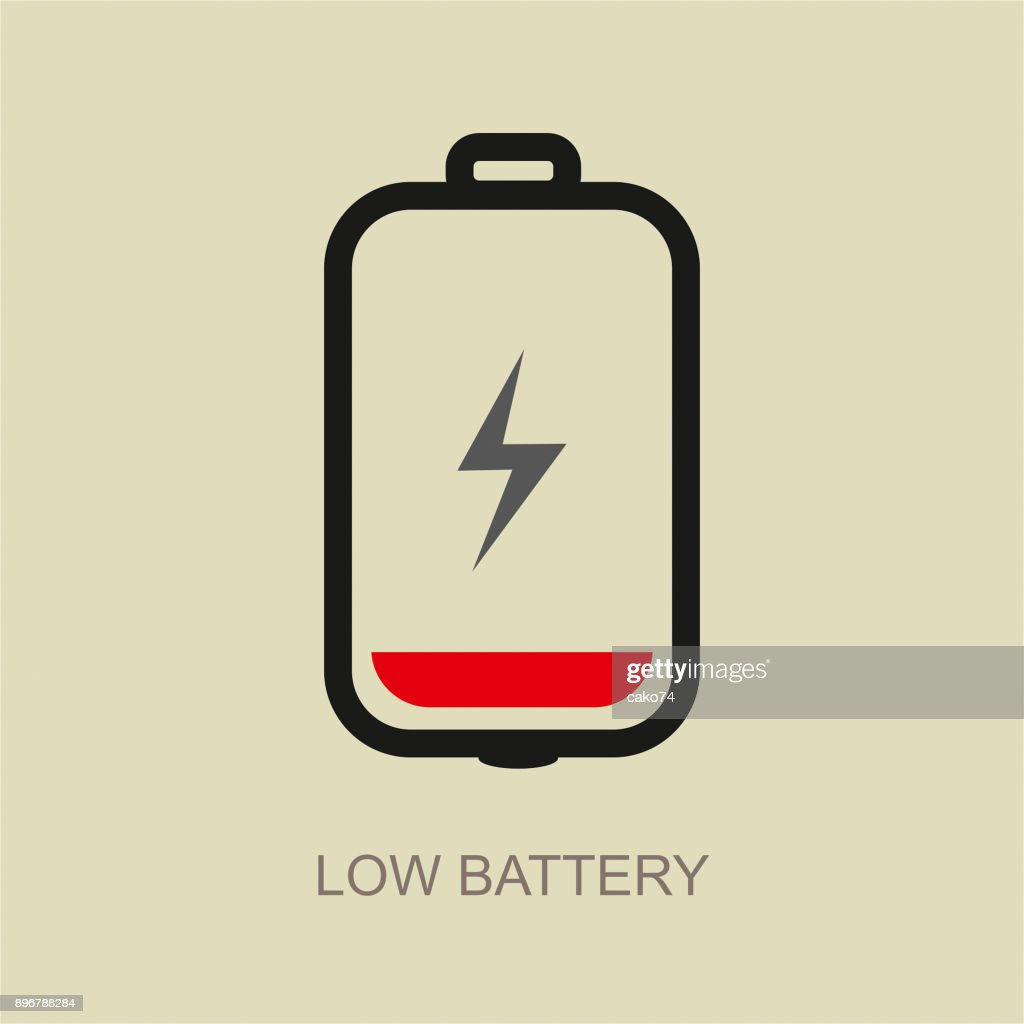 low battery vector icon high res vector graphic getty images low battery vector icon high res vector graphic getty images