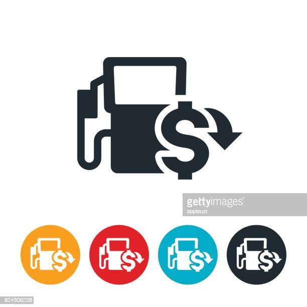 low fuel prices icon - fuel pump stock illustrations, clip art, cartoons, & icons