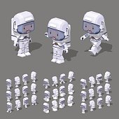 Low poly astronaut