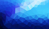 low poly background blue color