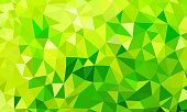 low poly background green color