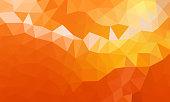 low poly background orange color