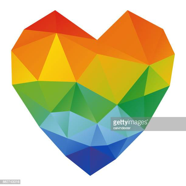 Low poly heart shape