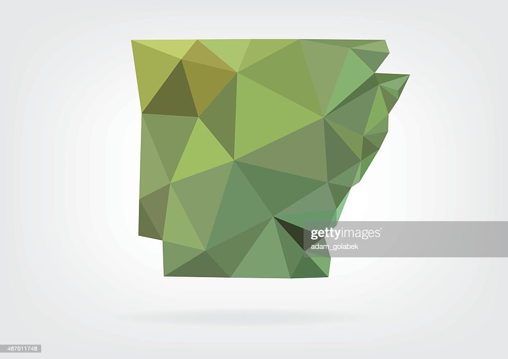 Low Poly map of Arkansas state