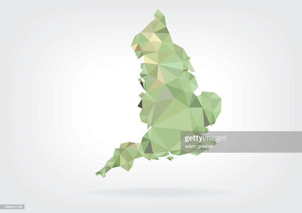 Low Poly map of England