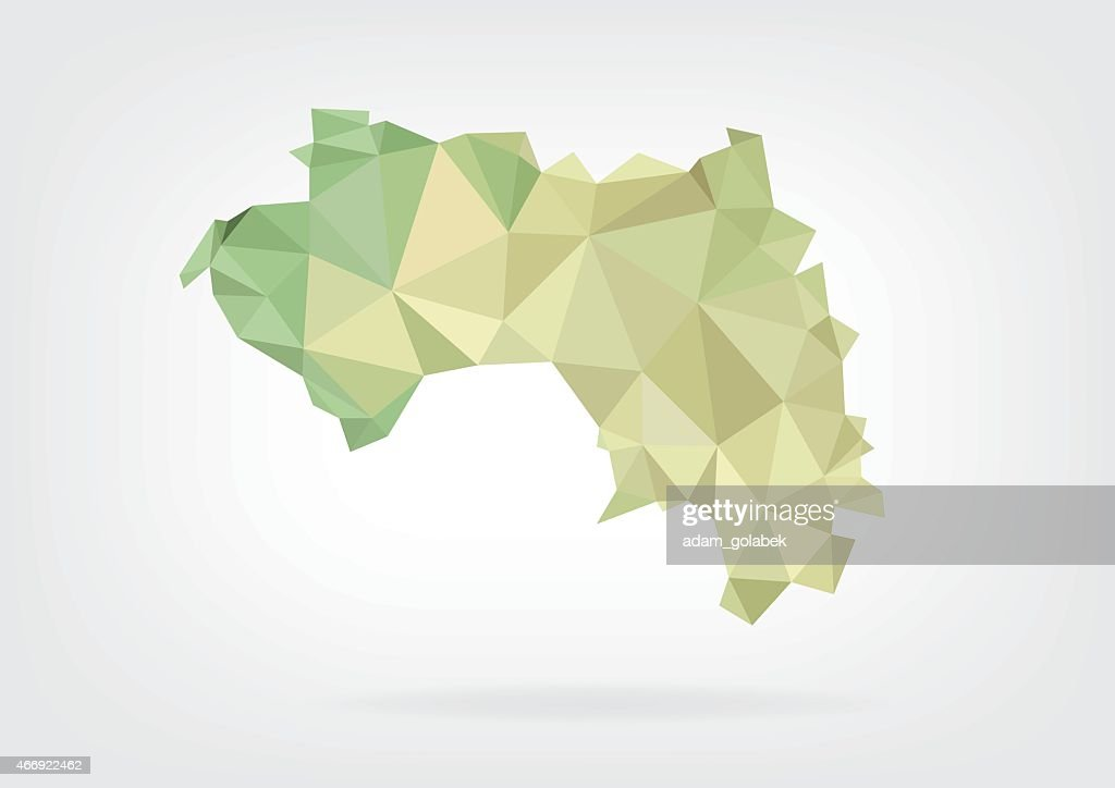 Low Poly map of Guinea