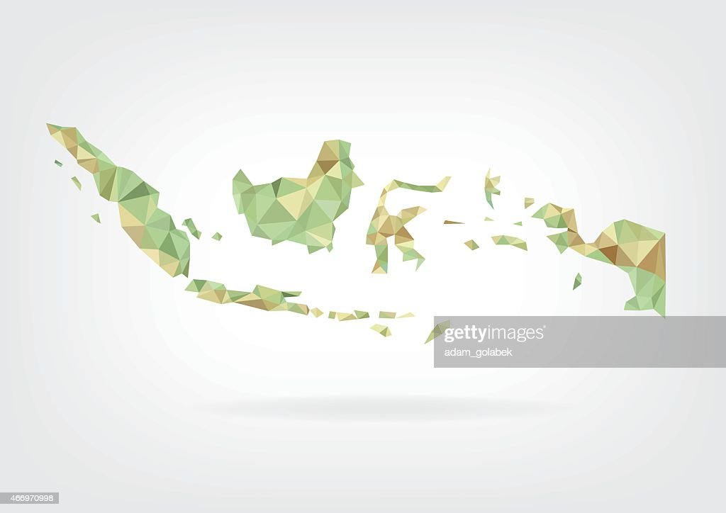 Low Poly map of Indonesia