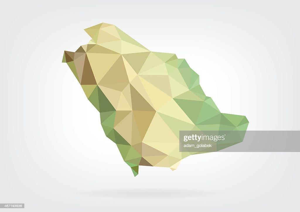 Low Poly map of Saudi Arabia