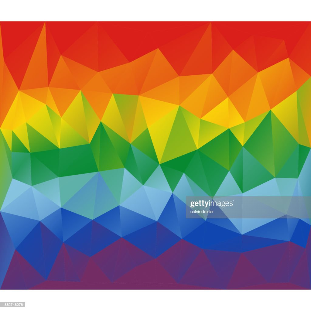 Low poly modeling background rainbow flag colors : stock illustration