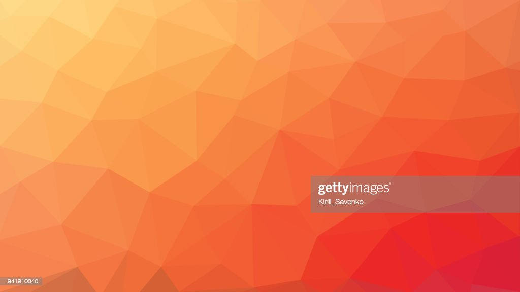 low poly orange red gradient background
