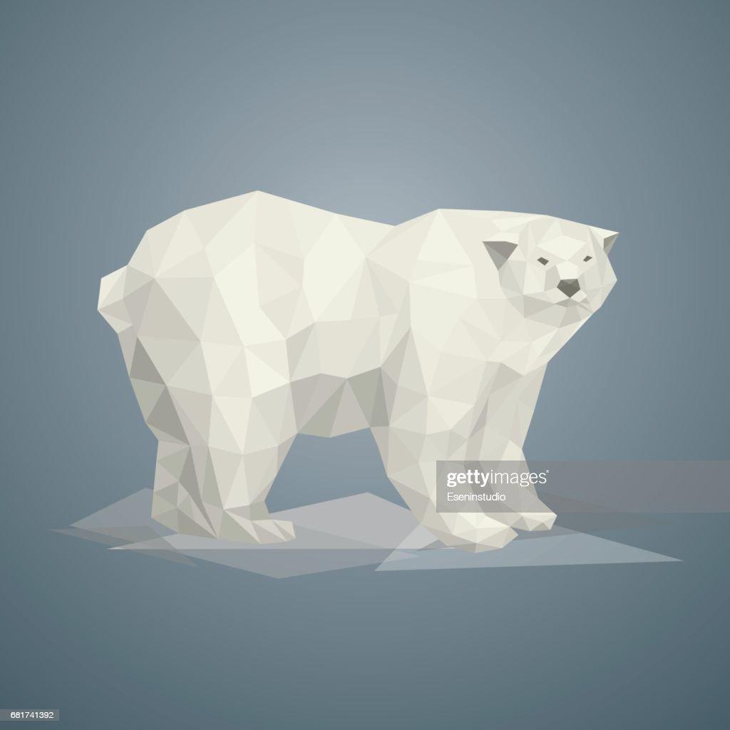 Low poly polar bear.