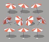 Low poly sun umbrella