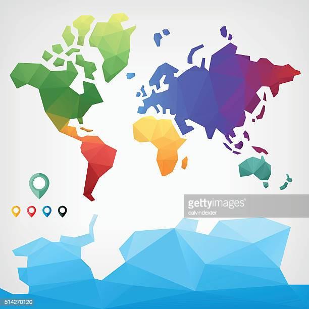 Bassa poliestere mappa del mondo