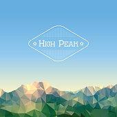 Low polygonal mountains