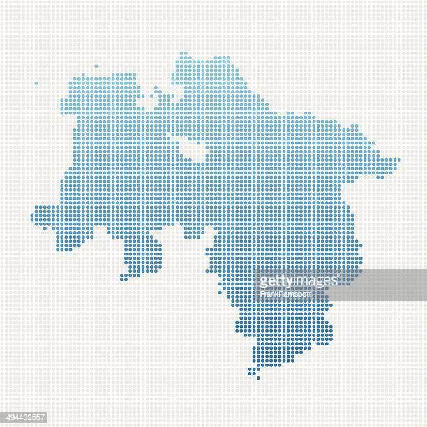 ローワーザクセンマップブルーの水玉模様 - ニーダーザクセン州点のイラスト素材/クリップアート素材/マンガ素材/アイコン素材