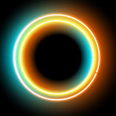 lowing electric circle, neon lamp