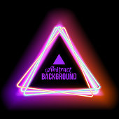 lowing electric triangle, neon lamp
