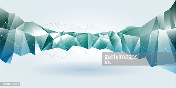 Lowpoly abstract mountain