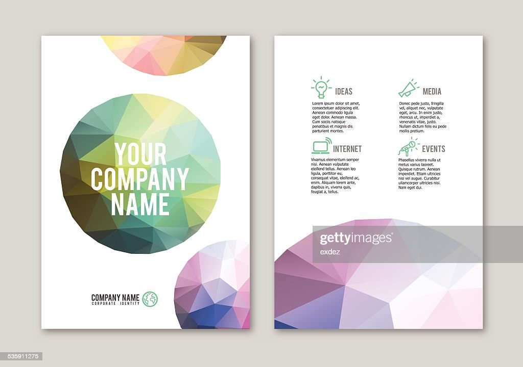 Lowpoly Dotted Circle Portfolio Design Vector Art | Getty Images